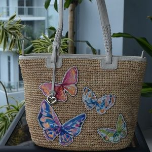 Brighton Embroidered Butterfly Bag